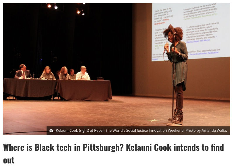 Kelauni Cook speaking about lack of diversity in tec