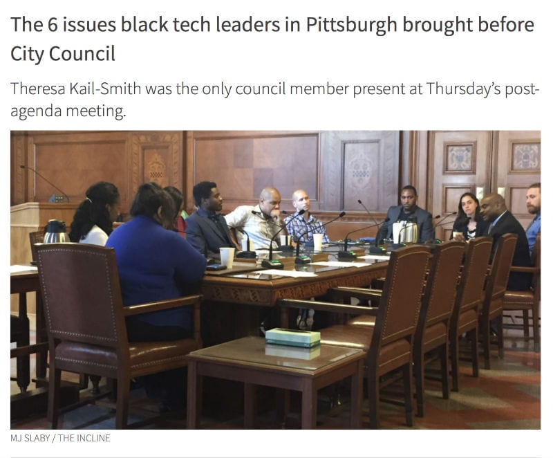 City Council meeting about lack of diversity in tech