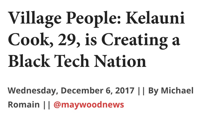 press article headline about Kelauni Cook